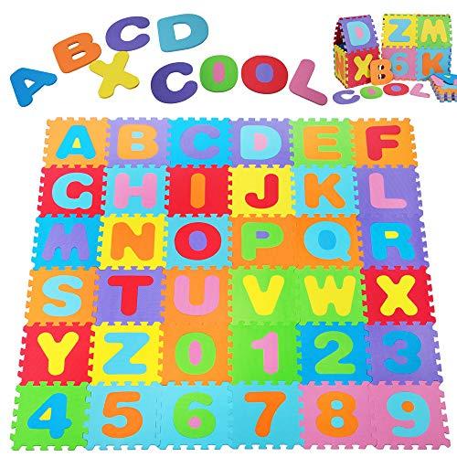 Deuba Puzzlematte 86 TLG Kinderspielteppich Spielmatte Spielteppich Schaumstoffmatte Matte bunt