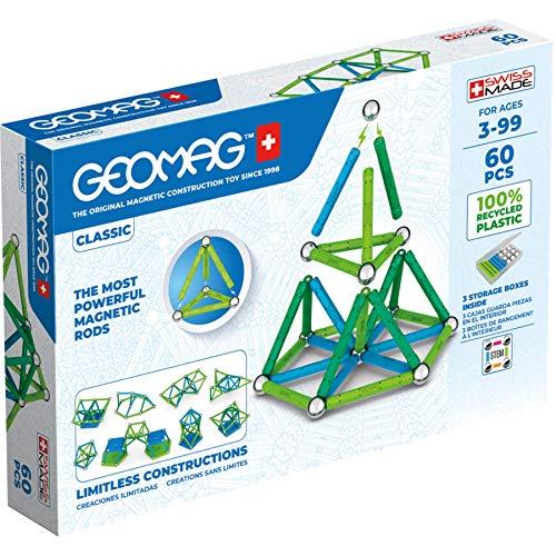 Geomag 272 Classic-42 Teile-Magnetisches Konstruktionsspielzeug für Kinder-Green Line-Lernspiel aus 100%...