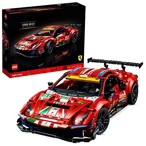 """LEGO 42125 Technic Ferrari 488 GTE """"AF Corse #51"""" Supersportwagen, Exklusives Sammlermodell,..."""