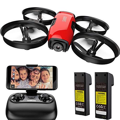 SANROCK U61W Drohne für Kinder mit Kamera, RC Quadcopter mit 720P HD WiFi FPV Kamera, Höhe halten,...