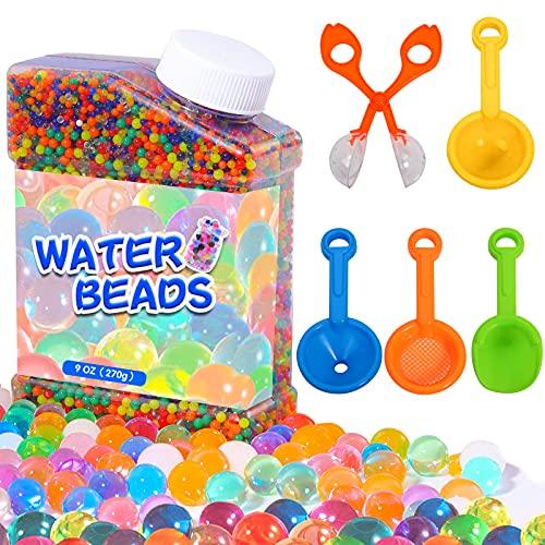 TULADUO 50000Pcs Wasserperlen Für Kinder Ungiftig, Regenbogen-Mix-Wasser-Perlen Wachsen Bälle Enthält...