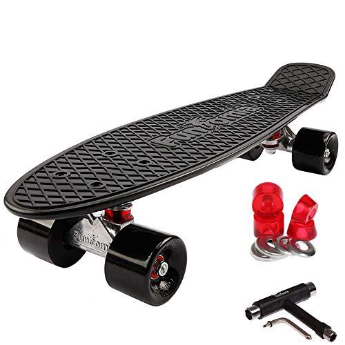 FunTomia Kinder Skateboard Cruiserboard Miniboard 57cm mit oder ohne LED Leuchtrollen Alu Truck Mach1...