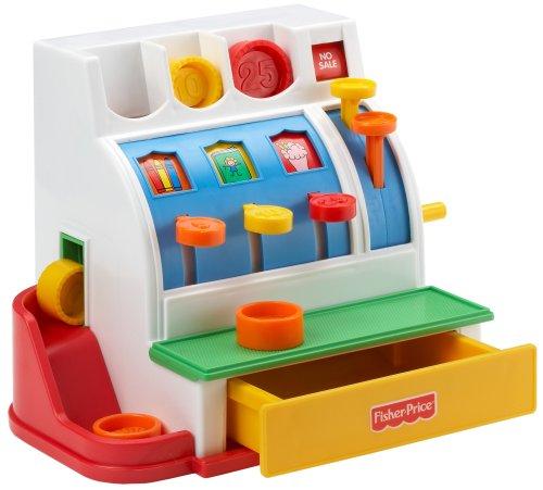 Fisher-Price 72044 Registrierkasse Spielkasse mit Klingelgeräusch inkl. Münzen für Rollenspiel...