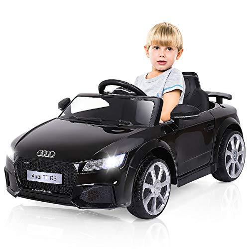 COSTWAY 12V Lizenziertes Audi Kinderauto mit 2,4G-Fernbedienung, 3 Gang Elektroauto 2,5-5km/h mit MP3,...