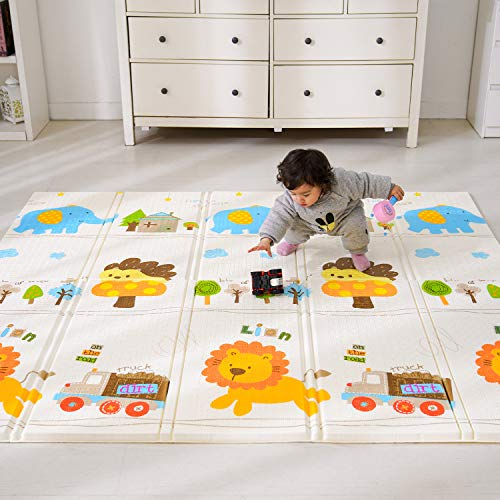Baby Spielmatte, Bammax Babymatte, Baby Krabbelmatte, faltbare baby bodenmatte, umweltfreudlich, XPE...