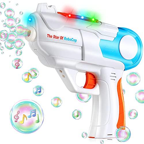 TangTag Seifenblasenpistole, Automatischer Seifenblasenmaschine Kinder Spielzeug mit Musik und Licht,...