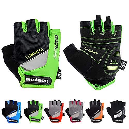 meteor radhandschuhe MTB Handschuhe Herren Gel GX31 Green fahrradhandschuhe Mountainbike Handschuhe -...