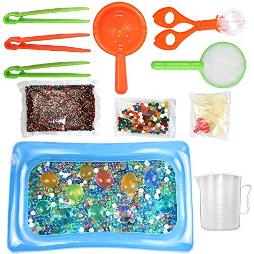 INSANYJ 40000Pcs Wasserperlen für Kinder Ungiftig, 50Pcs Regenbogen Water Beads XXL Biologisch Abbaubare...