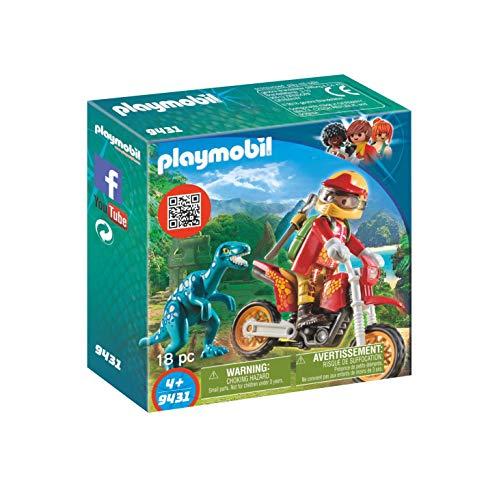 Playmobil 9431 - Motocross-Bike mit Raptor Spiel