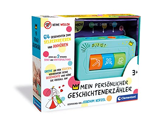 Clementoni 59202 Geschichtenerzähler, interaktive Audio-Unterhaltung, für Kinder ab 3 Jahren, spannende...