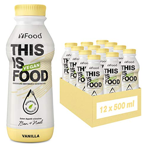 YFood Vegan Vanille | Laktose- & glutenfreier Nahrungsersatz | 26g Protein, 26 Vitamine & Mineralstoffe |...