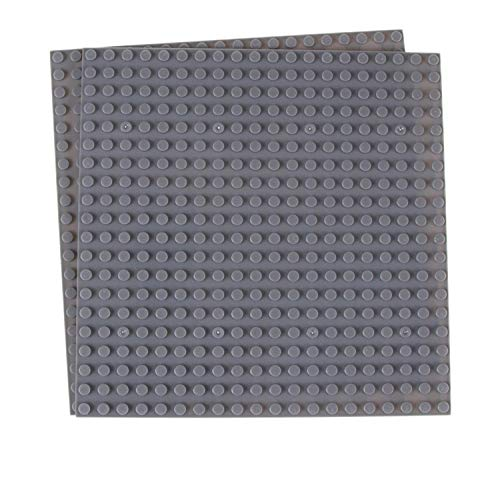 Strictly Briks Premium Grau Stapelbare Basisplatten - 10er Pack 6 'x 6' Baseplate Bundle mit 40 Grau...