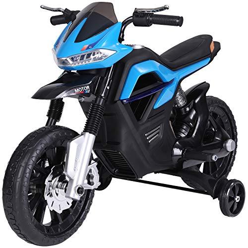 HOMCOM Kindermotorrad Kinder-Elektromotorrad Elektro-Motorrad für Kinder 3-6 Jahren Licht Musik MP3...