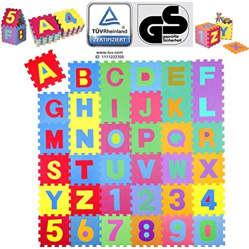 KIDUKU® 86 teilige Puzzlematte TÜV Rheinland geprüft - Kinderspielteppich, Spielmatte, Spielteppich...