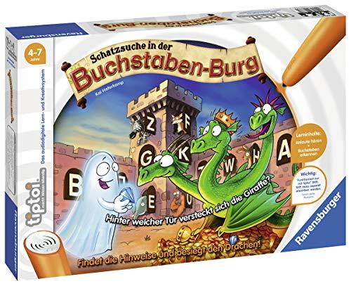 Ravensburger tiptoi Schatzsuche in der Buchstabenburg Spiel, ab 4 Jahren, Anlaute, Buchstaben, Silben und...