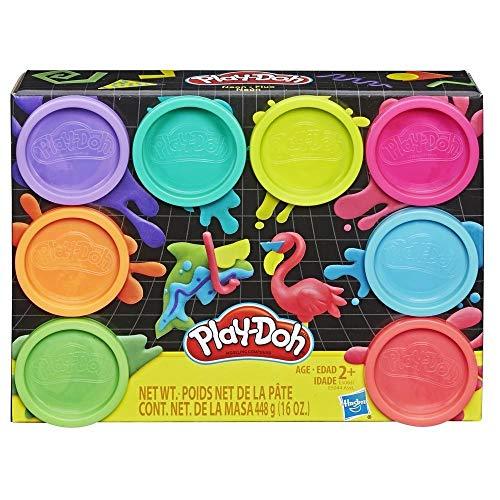 Play-Doh 8er-Pack mit Spielknete in 8 Neonfarben, Knete für fantasievolles und kreatives Spielen