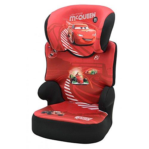 mycarsit Sitzerhöhung mit Rückenlehne Disney, Gruppe 2/3(von 15bis 36kg), Motiv Cars