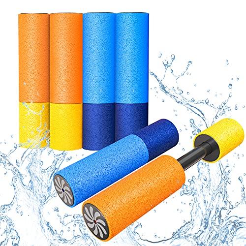 LISOPO 6er Set Wasserpistole Wasserspritze aus Schaumstoff mit stabilen Innenleben Spritzpistole für...