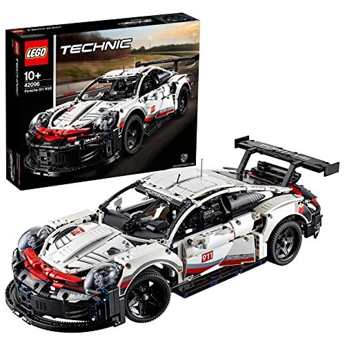 LEGO 42096 Technic Porsche 911 RSR, Rennauto Bausatz für Fortgeschrittene, Exklusives Sammlerstück
