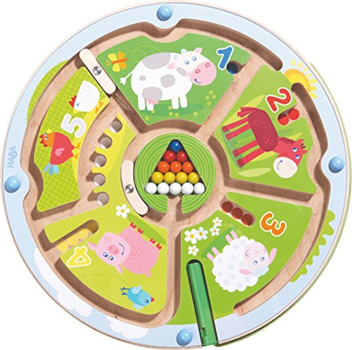 HABA 301473 - Magnetspiel Zahlenlabyrinth |Wunderschön illustriertes Baby- und Kleinkindspielzeug ab 2...