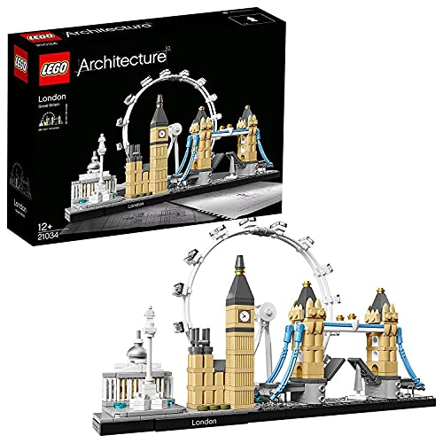 LEGO 21034 Architecture London Bauset, Skyline-Kollektion, London Eye, Big Ben, Tower Bridge,...
