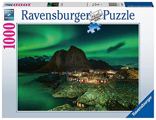 Ravensburger Puzzle 1000 Teile - Aurora Borealis Norwegen, Nordlichter über Hamnoy - Puzzle für...