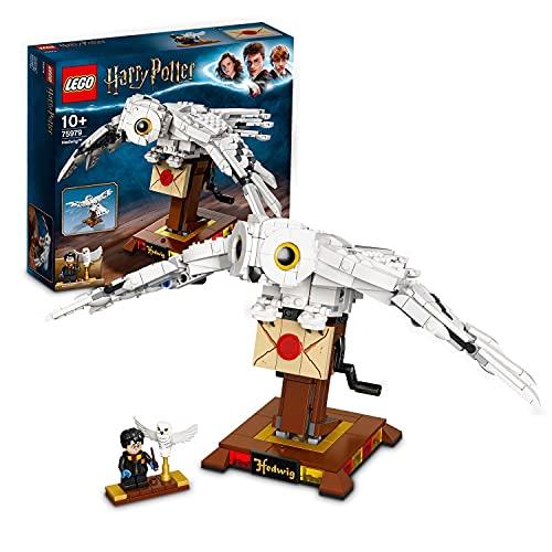 LEGO 75979 Harry Potter Hedwig mit beweglichen Flügeln, Schaustück, Modell für Sammler