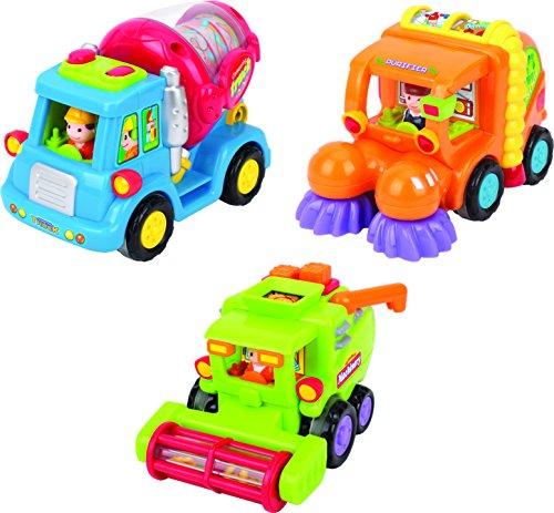 Spielzeug für Kleinkinder - Set mit 3 reibungsbetriebenen Spielzeugen TG641 - Reibungsbetriebener...