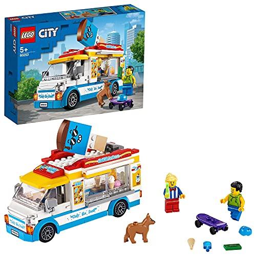 LEGO 60253 City Eiswagen, Spielzeug mit Hund und Figur eines Skaters, tolles Set als Geschenk für...