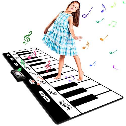 RenFox Piano Matte, Große Musikmatte mit 8 Instrumente Sounds Tanzmatten Klaviermatte Kinder Piano Matte...