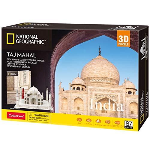 CubicFun DS0981h 3D Puzzle National Geographic Indien - Taj Mahal Stadtarchitektur Gebäudemodellbausatz...
