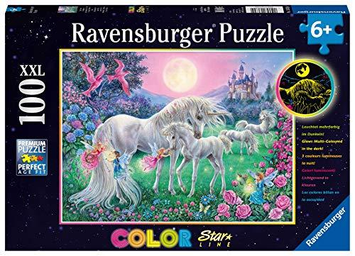 Ravensburger Kinderpuzzle 13670 - Einhörner im Mondschein 100 Teile XXL - Puzzle für Kinder ab 6 Jahren...