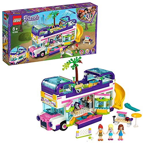 LEGO 41395 Friends Freundschaftsbus Set, Puppenhaus - Bus mit 3 Mini Puppen, Spielzeug ab 8 Jahren für...