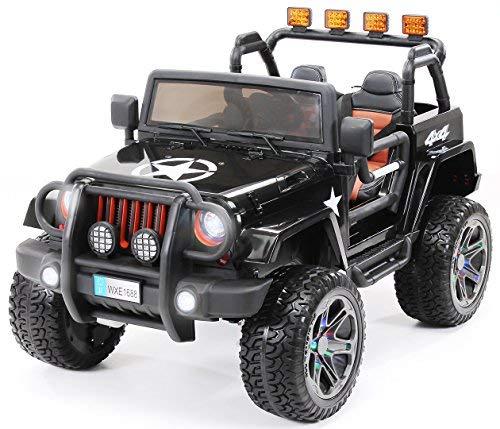 Actionbikes Motors Kinder Elektroauto Jeep Wrangler Offroad - 4x4 Allrad - USB - Sd Karte - 4 x 35 Watt...