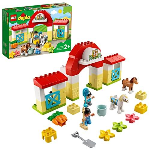 LEGO 10951 DUPLO Pferdestall und Ponypflege Kleinkinder Spielzeug ab 2 Jahren, Bauernhof, Spielset mit...