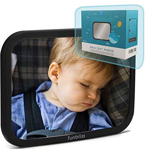 Rücksitzspiegel fürs Baby,Bruchsicherer Auto-Rückspiegel für Babyschale , 360°...