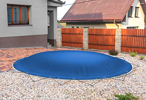 ! (Profi-Qualität) Runde aufblasbare Poolplanen Schwimmbad Abdeckungen aus LKW-Plane (Pooldurchmesser:...