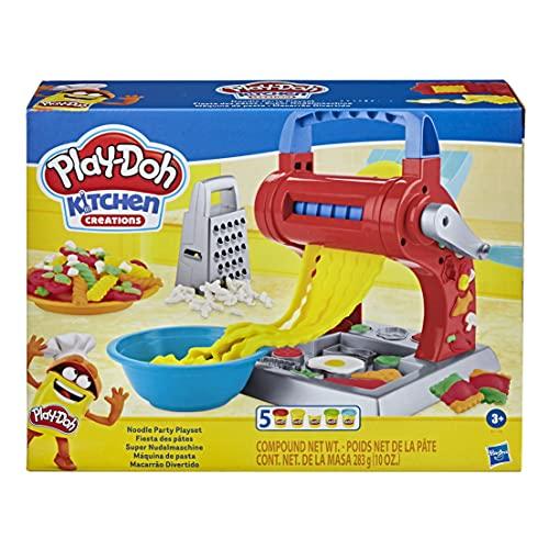 Play-Doh E7776 Kitchen Creations Super Nudelmaschine Spielset für Kinder ab 3 Jahren mit 5 Farben