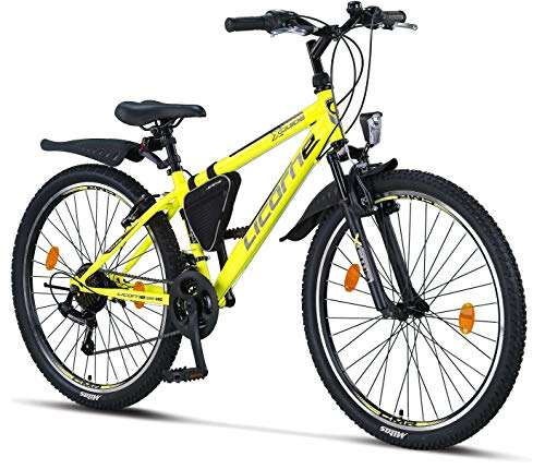 Licorne Bike Guide Premium Mountainbike in 26 Zoll - Fahrrad für Mädchen, Jungen, Herren und Damen - 21...