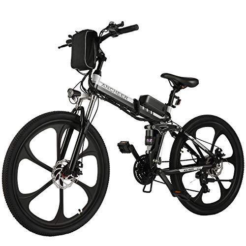 ANCHEER Elektrofahrrad 26Zoll/20Zoll Zoll E- Bike Mountainbike, 25-50km/h Meilen Kilometerstand, 36V 8AH...