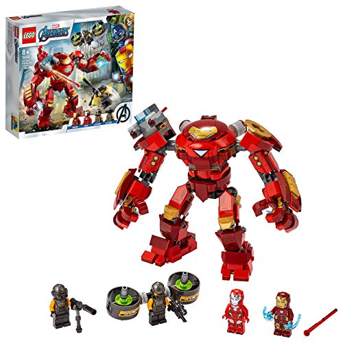 LEGO 76164 Marvel Avengers Iron Man Hulkbuster vs. A.I.M.-Agent, bewegliche Mech Figur, Spielzeug für...