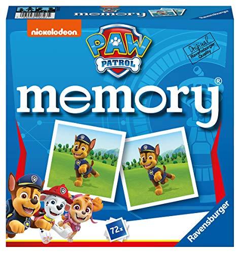 Ravensburger - 20743 Paw Patrol Memory, der Spieleklassiker für alle Fans der TV-Serie Paw Patrol,...