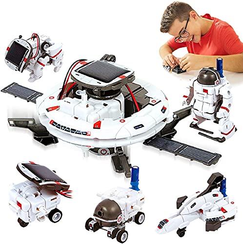 Neu Aktualisierte STEM Spielzeuge 6-in-1-Solarroboter-Kit Lernwissenschaft Bauspielzeuge...