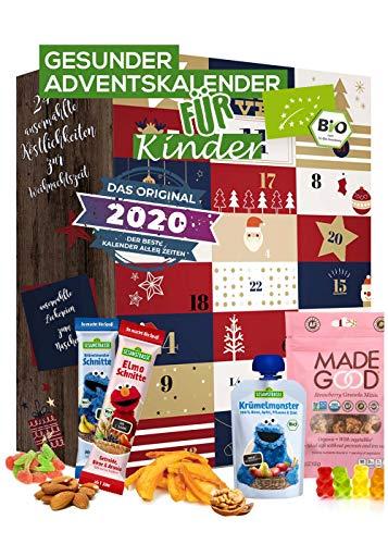Kinder Adventskalender gesund BIO-Qualität I gesunde Snacks Kinder I 24 Überraschungen im Kinder -...
