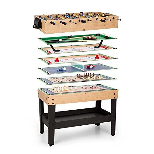 OneConcept Game-Star - Spieletisch, Multifunktionstisch, Billardtisch, höhenverstellbare Tischfüße,...