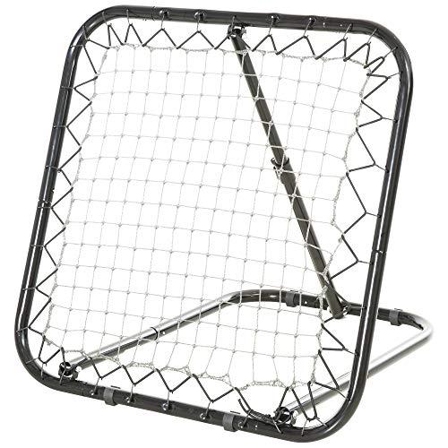 HOMCOM Baseball Rebounder Kickback Tor Rückprallwand Netz Rückprall Faltbar Metall+PE Schwarz 78 x 84 x...