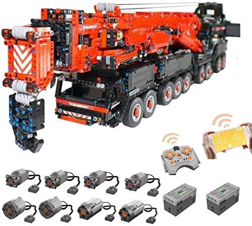 Foxcm Technik Kran LKW, Technic Mobiler Schwerlastkran, Groß MOC Ferngesteuert Autokran mit 8 Motoren,...