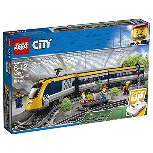 LEGO 60197 City Personenzug mit batteriebetriebenem Motor, ferngesteuertes Set mit Bluetooth-Verbindung,...