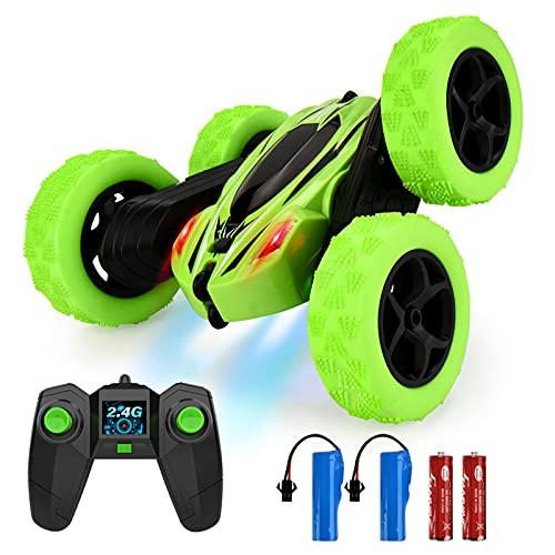 ALLCELE Ferngesteuertes Auto Spielzeug Kinder, 2,4 Ghz Fernbedienung, mit 4 Akkus, 360° Flip, Draussen...