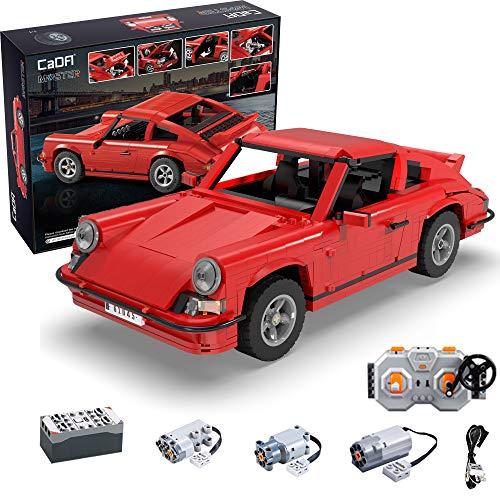 CADA Technik Master C61045W 1429PCS Retro-Sportwagen RS mit Fernbedienung, Spielzeugset für kleine...
